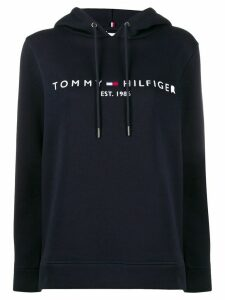 Tommy Hilfiger logo embroidered hoodie - Blue