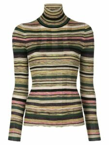 Jed striped turtle-neck sweater - Green