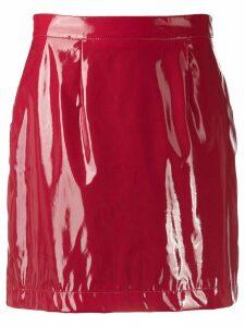 Kirin short varnished skirt - Red