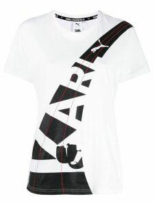 Karl Lagerfeld x Puma double logo T-shirt - White