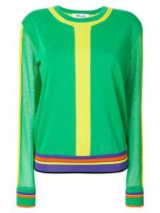 Diane von Furstenberg striped crew neck sweater - Green