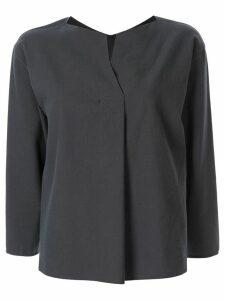 Tomorrowland slit-neck blouse - Grey