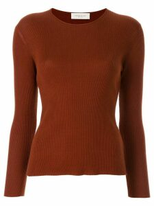 Tomorrowland ribbed crew neck jumper - Brown