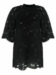 Romance Was Born lace embroidered blouse - Black
