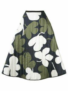 Lee Mathews A-line floral print skirt - Blue