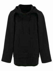 Juun.J layered hoodie - Black