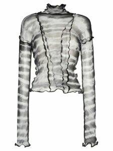 ASAI Hot Wok tie-dye fitted top - Grey