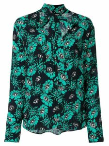 Markus Lupfer floral pussybow blouse - Green