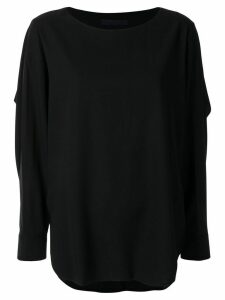 Juun.J long-sleeved flared blouse - Black