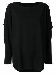 Juun.J long-sleeved flared blouse - Black