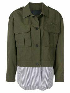 Juun.J shirt cargo jacket - Green