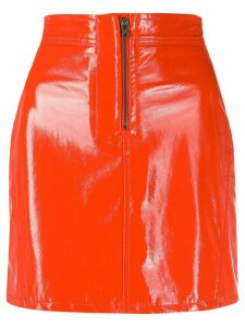 Fiorucci vinyl mini skirt - ORANGE