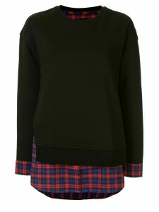 Juun.J layered shirt jumper - Black
