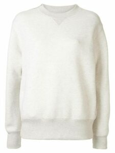 Sacai zipped shoulder sweater - White