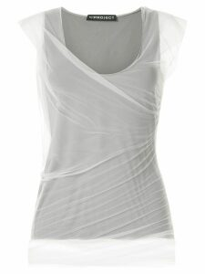 Y/Project draped sheer jersey top - Green
