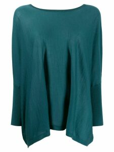 N.Peal loose fit poncho - Green
