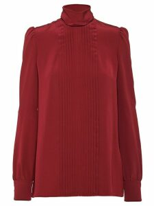 Prada pleated details blouse - Red