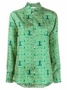 LANVIN monogram print shirt - Green