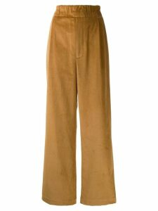 Jejia elasticated palazzo trousers - Brown
