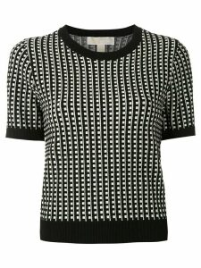 Michael Michael Kors geometric grid top - Black