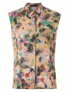 Andrea Marques structured shoulders printed shirt - Multicolour