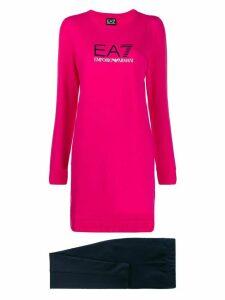 Ea7 Emporio Armani long sleeve logo sweater - PINK