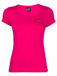 Ea7 Emporio Armani scoop neck T-shirt - PINK