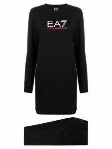 Ea7 Emporio Armani long logo jumper - Black