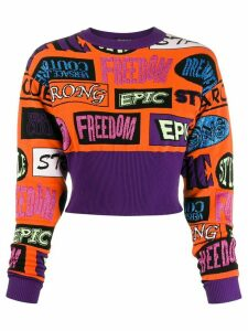 Versace Jeans Couture all-over pattern jumper - Orange