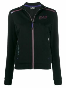 Ea7 Emporio Armani zipped logo jumper - Black