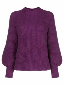 Apiece Apart Sequoia mock-neck jumper - Purple
