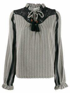Cecilie Copenhagen Delphine tassel blouse - Black