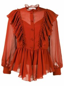 See by Chloé Neo-Victorian ruffled blouse - ORANGE