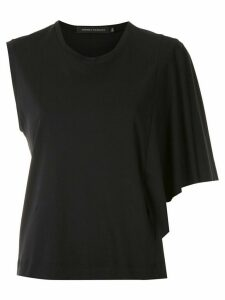 Andrea Marques asymmetric sleeves blouse - Black