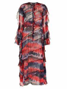 ASAI long sleeve maxi dress - PURPLE