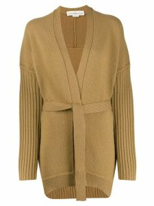 Golden Goose textured-knit belted cardigan - NEUTRALS