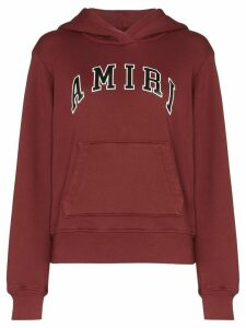 Amiri college logo hooded sweatshirt - Red