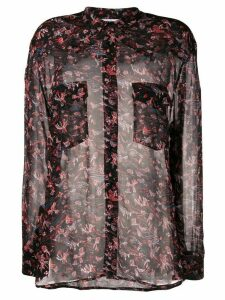 IRO printed sheer shirt - Black