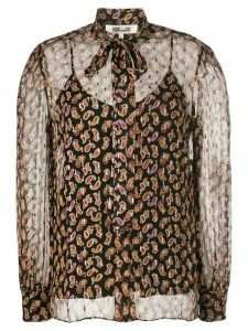 Diane von Furstenberg Lanie paisley print blouse - Black