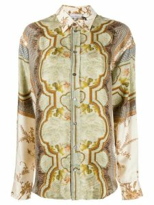 Pierre-Louis Mascia tapestry print boxy fit shirt - NEUTRALS