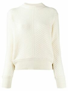 A.P.C. mock neck textured-knit jumper - White