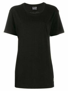 Ea7 Emporio Armani logo cutout T-shirt - Black