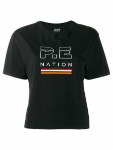 P.E Nation logo print T-shirt - Black