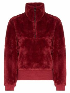 Varley faux fur zip sweatshirt - Red