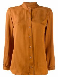 A.P.C. striped jacquard shirt - Brown