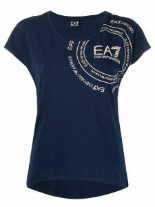 Ea7 Emporio Armani logo print T-shirt - Blue