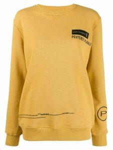 Peuterey logo print sweatshirt - Yellow
