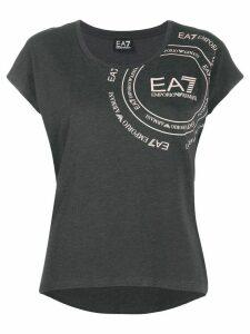 Ea7 Emporio Armani logo print T-shirt - Grey