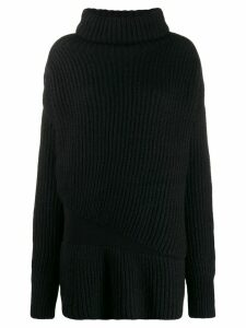 Ann Demeulemeester ribbed knit jumper - Black