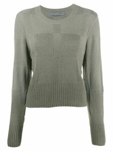 Raquel Allegra panelled knit jumper - Green
